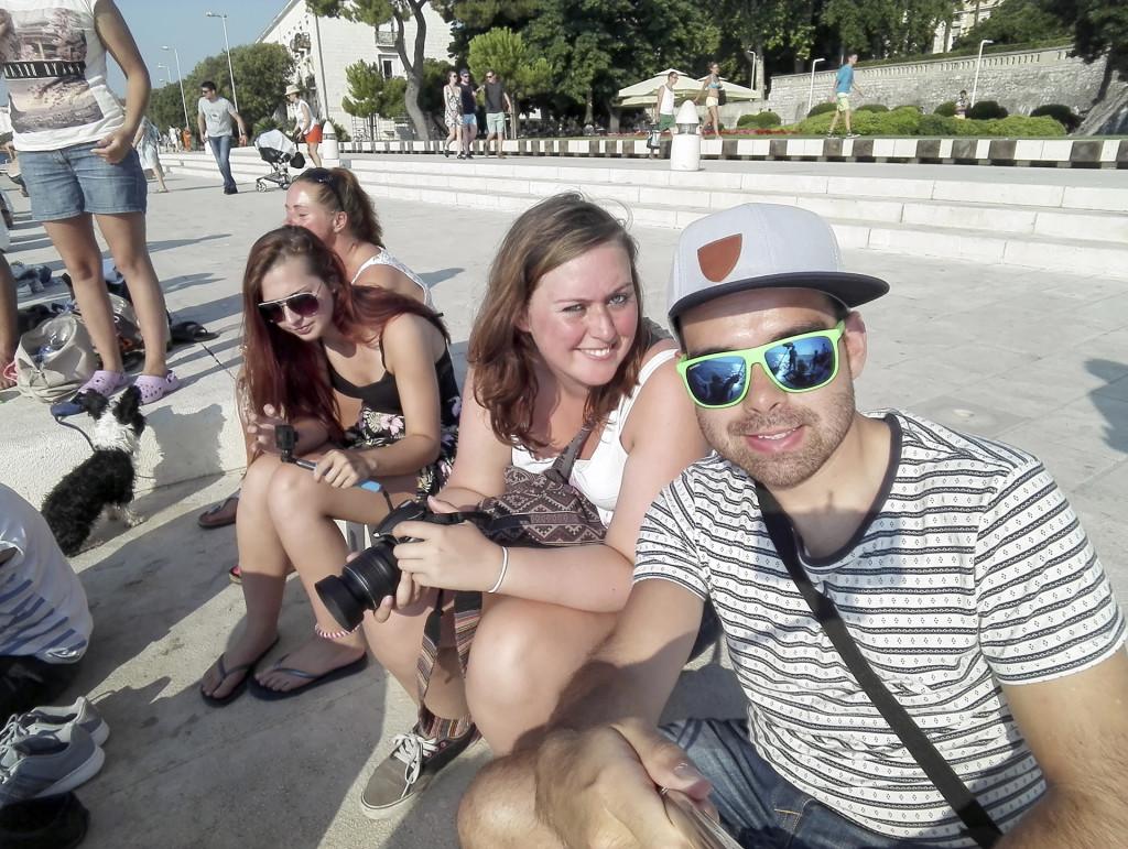 Ons dorpje ligt vlakbij Zadar, dus dat hebben we ook regelmatig bezocht! Hier zaten we bij een van de hoogtepunten van Zadar: de zee-orgel!