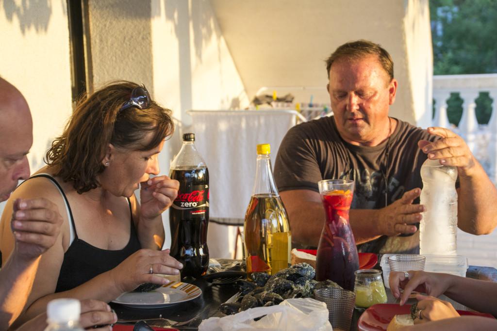 Ivan en zijn vrouw kunnen erg goed koken! We zijn dan ook elk jaar heel blij dat hij ons uitnodigt voor een etentje!