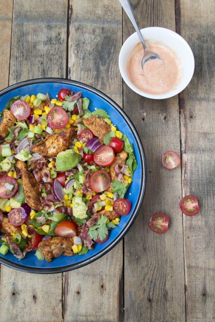 taco kip salade