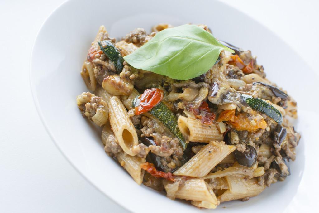 pasta gegrilde groenten