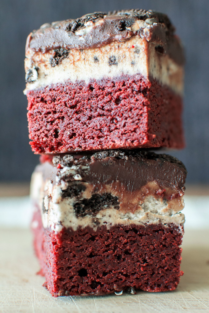 Oreo Red Velvet Brownies