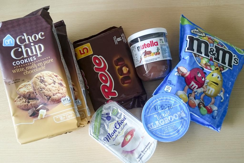 De ingrediënten van één taart, het resultaat en het recept komt binnenkort online :)