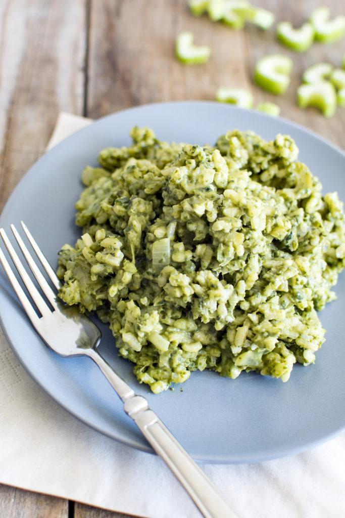 risotto met gorgonzola en spinazie