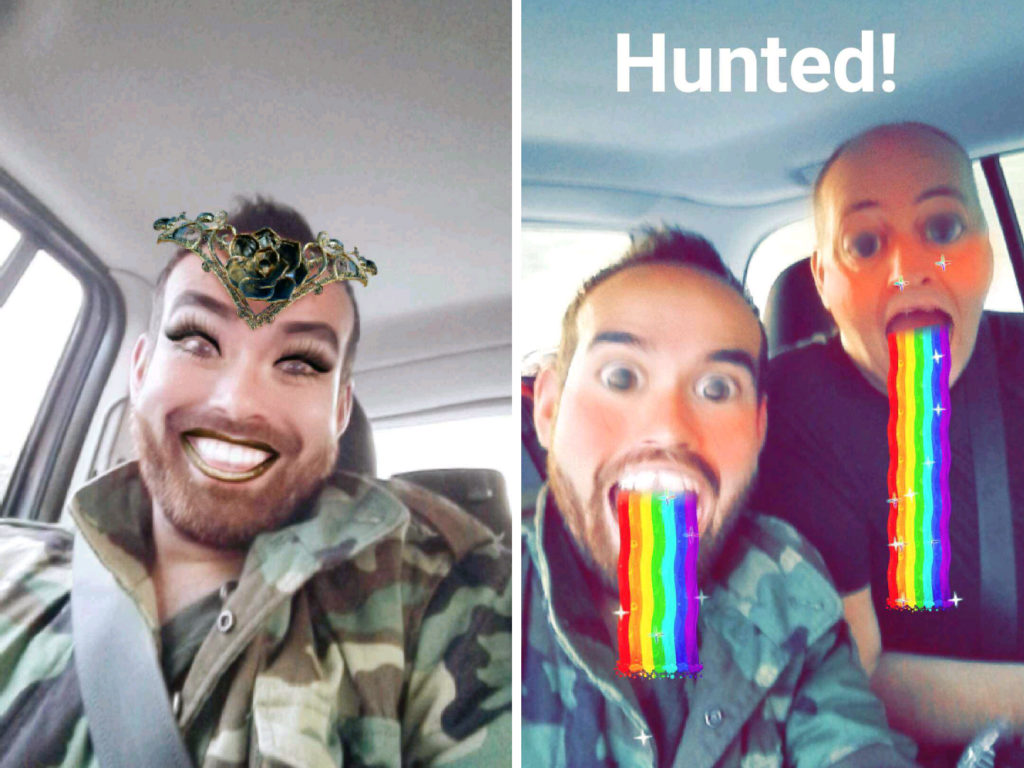 Af en toe krijg ik rare Snapchats van Ronald