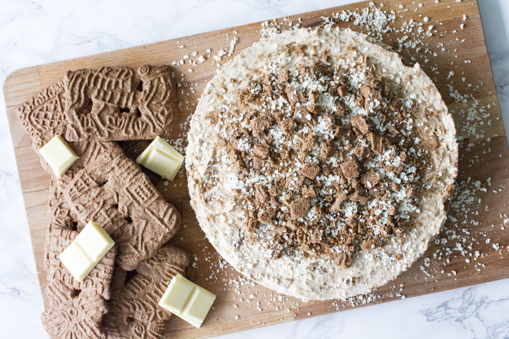 witte chocolade speculaas cheesecake