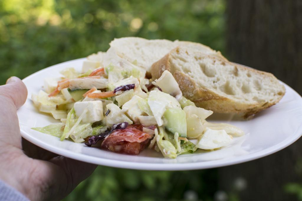 vega bbq salade brood