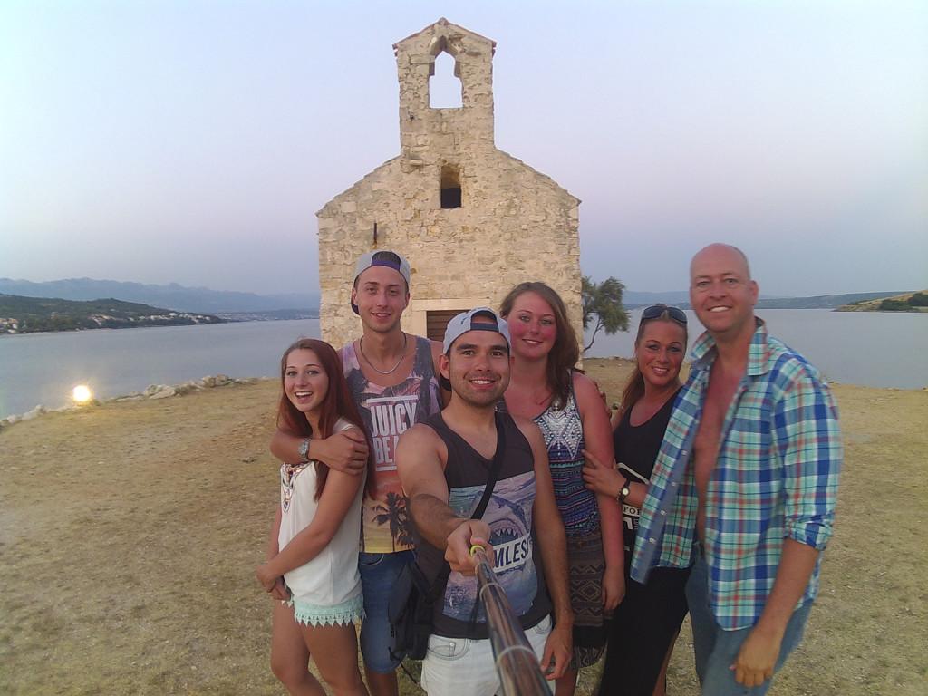 's Avonds zijn we even naar Posedarje geweest, een klein dorpje verderop