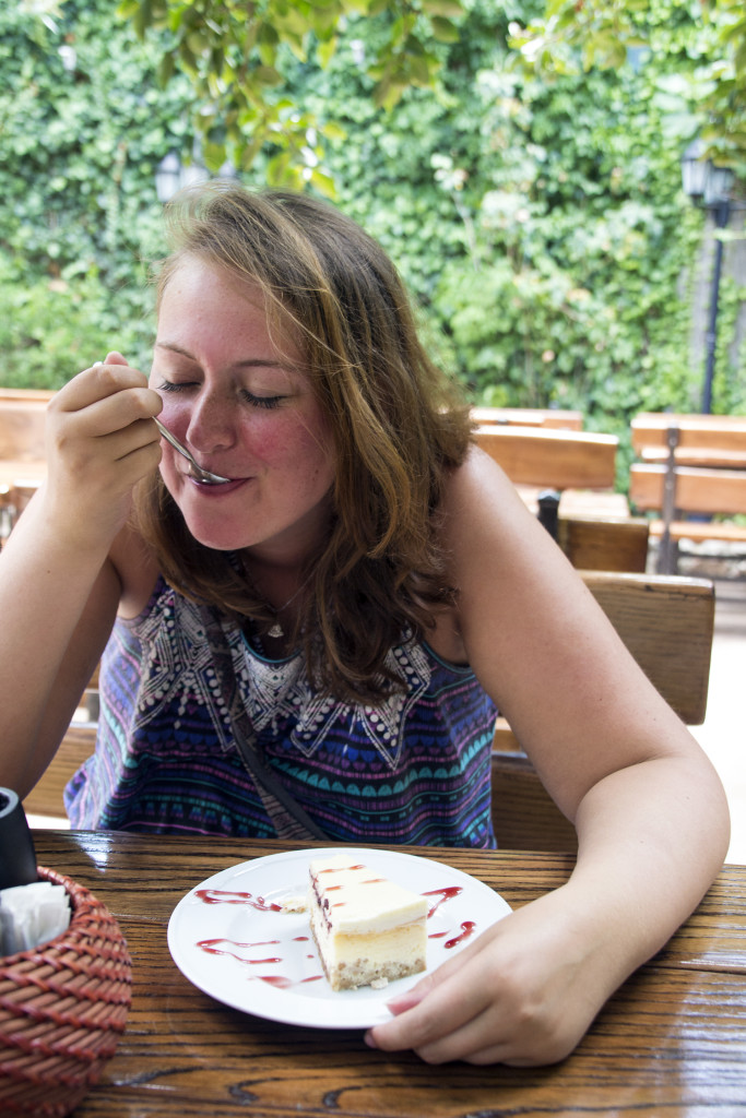 Ze hebben er ook de lekkerste cheesecake die ik ooit geproefd had!