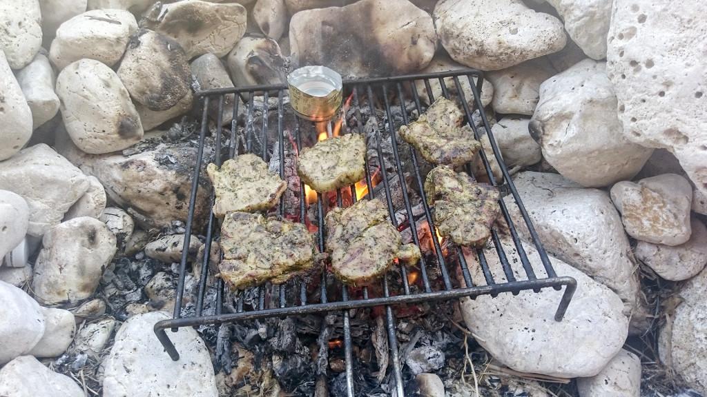Heerlijk BBQ'en op de rotsen!