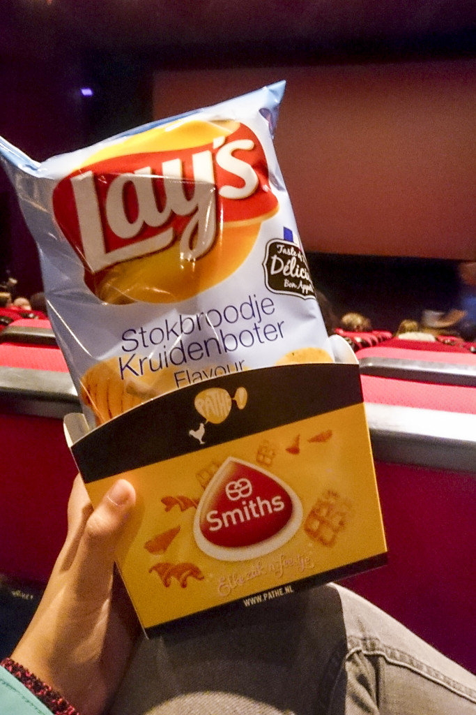 Pathe Unlimited Night! We keken de film Black Mass en kregen zo'n hele zak chips per persoon! Wel erg lekker :p