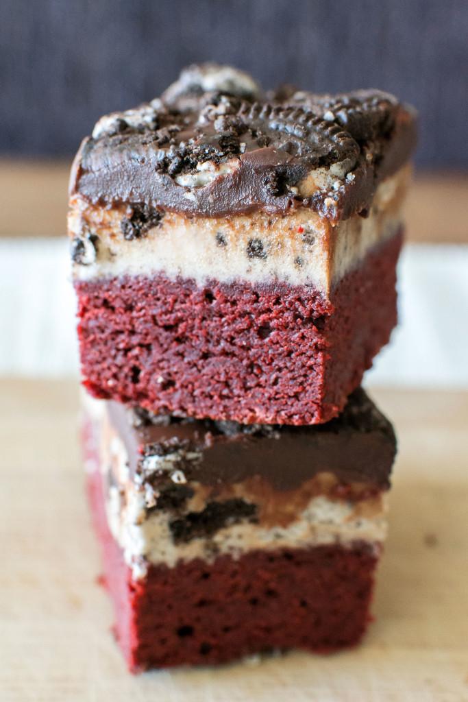 Oreo Red Velvet Brownies