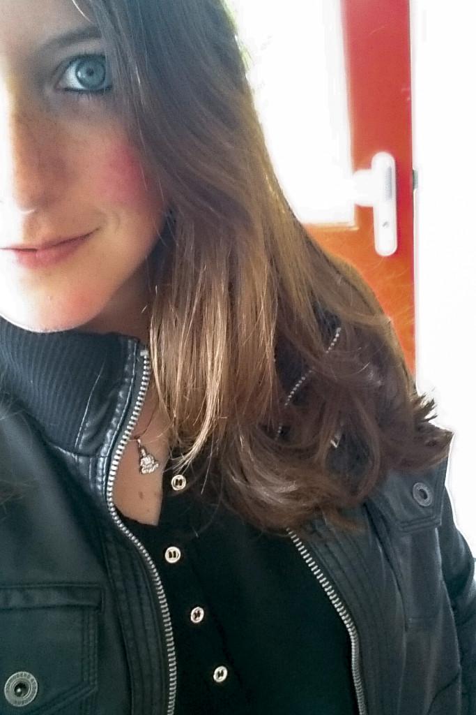 Een rare foto van mij, maar wel met geknipt haar :p