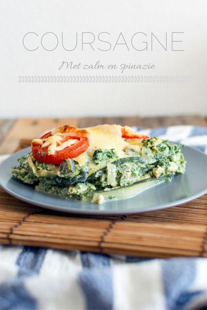 coursagne met zalm en spinazie